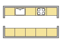 flat image of the Galley kicthen layout